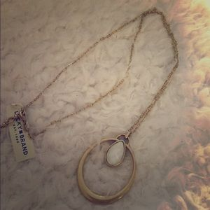 NWT lucky brand gold finish pendant necklace